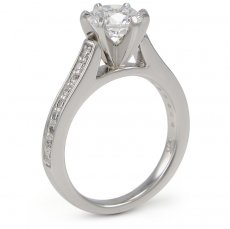Angelica - Cathedral Ring Accented With Natural Diamonds