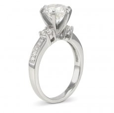 Amore Speciale Engagement Ring Accented With Natural Diamonds